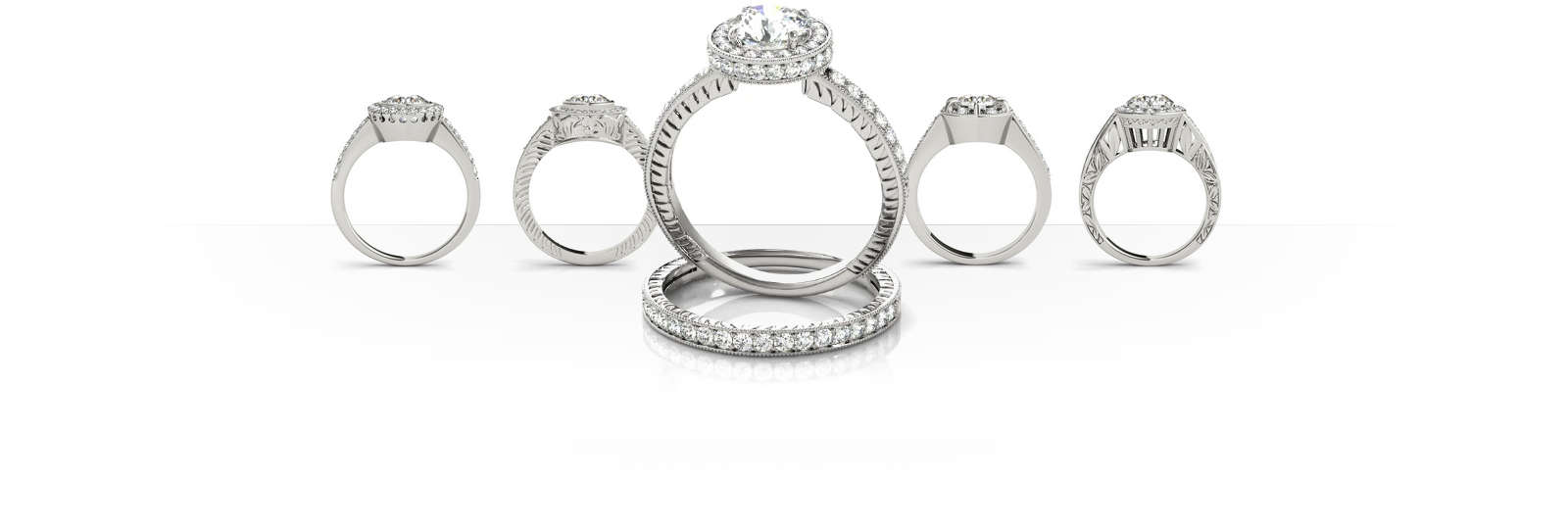 Build your own Engagement Ring online at Vons Jewelry