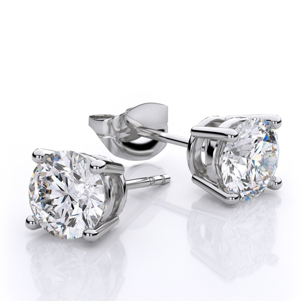 90ct Tw Diamond Solitaire Earrings